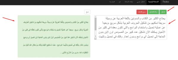 تشكيل الحروف العربية