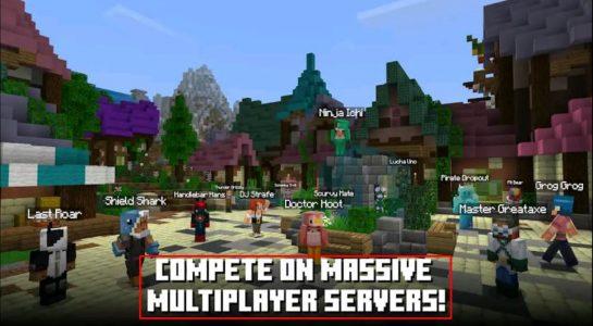 أقسام لعبة Minecraft للاندرويد