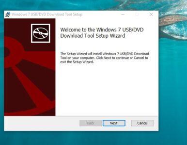 شرح أداة Windows USBDVD Download Tool