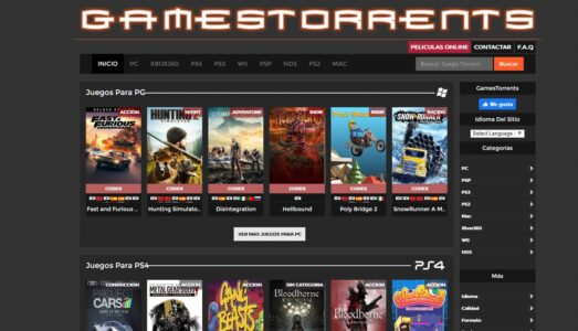 شرح موقع GamesTorrents