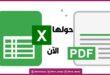 تحويل الاكسل إلي PDF