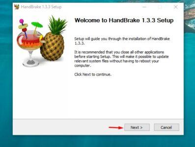 برنامج handbrake لتقليل حجم الفيديو